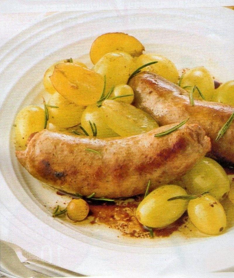 I pasti veloci della nonna silvana padellata di salsicce - Calorie uva bianca da tavola ...